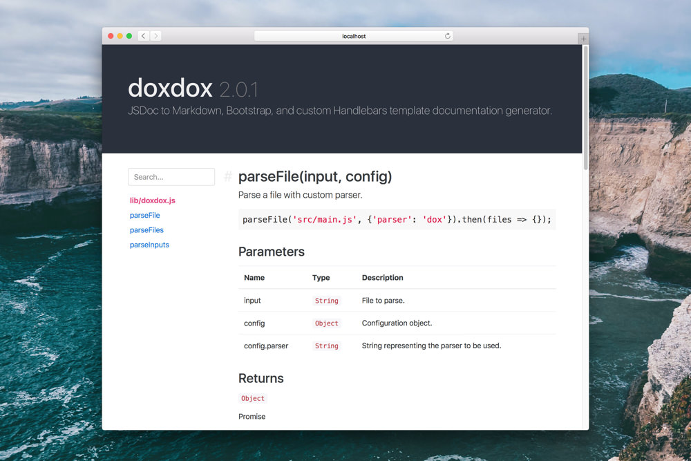 Jsdoc Templates   Doxdox A Simple Solution For Auto Generated Documentation
