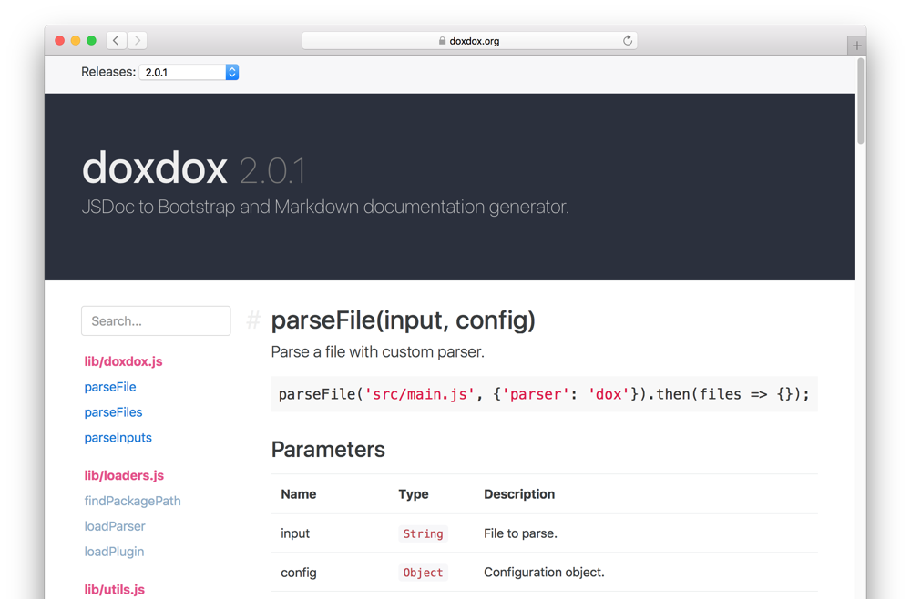 doxdox - A simple solution for auto generated documentation.